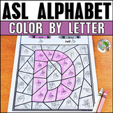ASL American Sign Language Alphabet Color by Letter