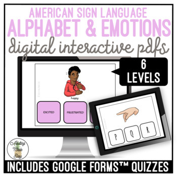 American Sign Language Alphabet & Emotions Digital Activity Bundle