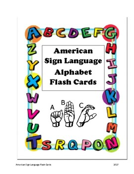 American Sign Language Alphabet Flash Cards