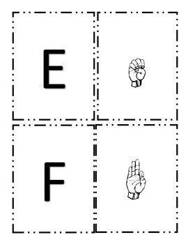 American Sign Language Alphabet Match Up