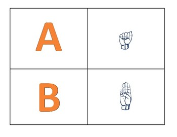 American Sign Language Alphabet Match Up in Color