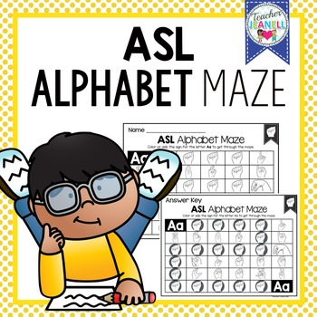 American Sign Language ASL Alphabet Maze