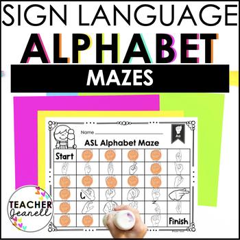 ASL American Sign Language Alphabet Maze