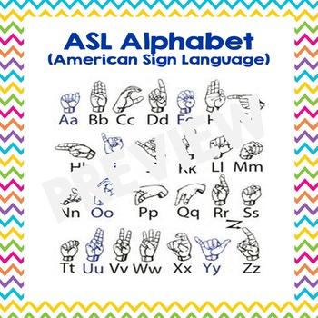 American Sign Language Alphabet Wall Cards ASL