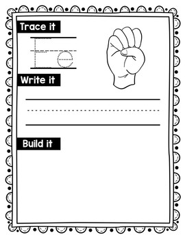 American Sign Language Alphabet Work Mats