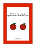 American Sign Language Apple Alphabet Handshape Cards
