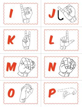 American Sign Language BINGO