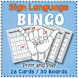 ASL Alphabet BINGO Game - American Sign Language Activity