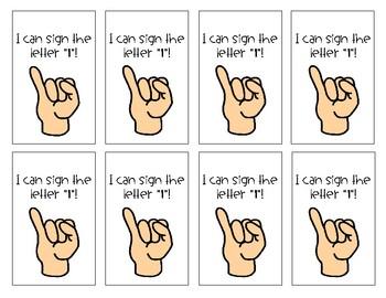 American Sign Language Brag Tags - Alphabet