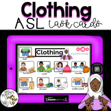 American Sign Language CLOTHING Boom Cards™  Distance Learning