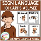 American Sign Language Cards Set 1 ASL/SEE