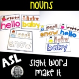 American Sign Language Centers Make it NOUNS