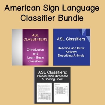 American Sign Language Classifiers Bundle