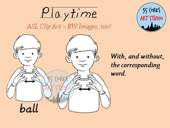 American Sign Language ASL Clip Art - Indoor Playtime