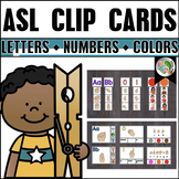 ASL American Sign Language Clip Cards Letters, Numbers, an