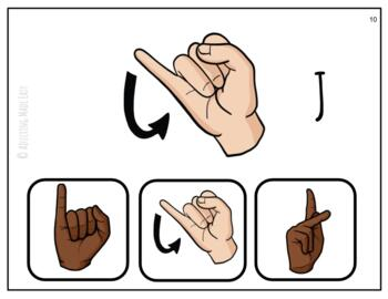 American Sign Language ABCs Differentiated Task Cards - ASL Special Education