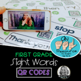 American Sign Language Dolch QR CODES First Grade