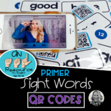 American Sign Language Dolch QR CODES Primer