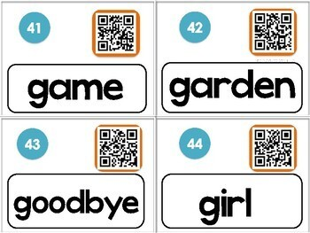 American Sign Language Dolch QR Codes NOUNS