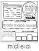 American Sign Language, Dolch SECOND GRADE, Sight Word Practice Pages LEVEL ONE