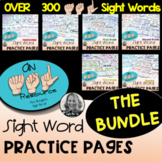 American Sign Language Dolch Sight Word Practice Pages BUN