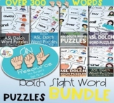 American Sign Language Dolch Sight Word Puzzles THE BUNDLE