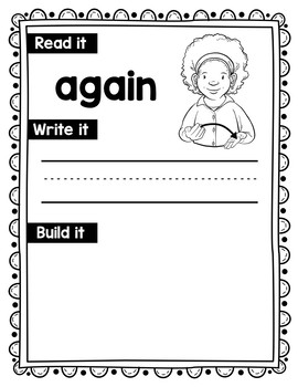 American Sign Language Dolch Sight Word Work Mats - 1st Grade