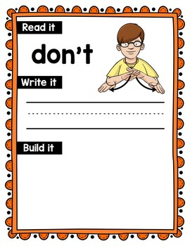 American Sign Language Dolch Sight Word Work Mats - 2nd Grade