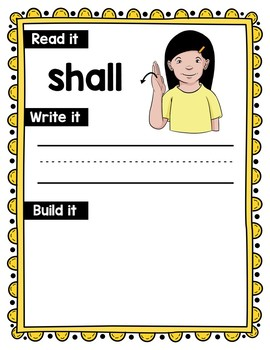 American Sign Language Dolch Sight Word Work Mats - 3rd Grade