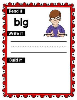 American Sign Language Dolch Sight Word Work Mats - Preprimer