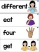 American Sign Language Dolch Word Wall Preprimer, Primer and First Grade