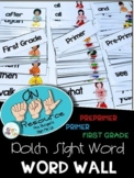 American Sign Language Dolch Word Wall Preprimer, Primer a
