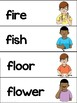 American Sign Language Dolch Word Wall NOUNS, 2nd, 3rd Grade