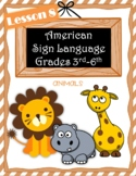 American Sign Language Elementary | Lesson 8 | ASL Animal Signs