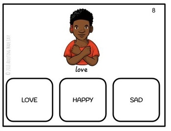 American Sign Language Emotions Differentiated Task Cards - ASL