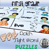American Sign Language FIRST GRADE Dolch Sight Word Puzzles