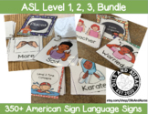 American Sign Language Flash Cards: Level 1, 2, 3, BUNDLE DISTANCE LEARNING
