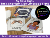 American Sign Language Flash Cards: My First Signs: Level 1 Signs