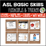 American Sign Language Flashcards & Tracker - Letters, Num
