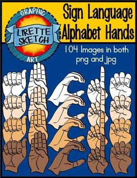 American Sign Language Graphics Set (A-Z)