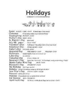 American Sign Language Holidays