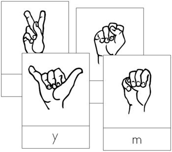 American Sign Language: Letter Cards