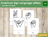 American Sign Language Letter Cards