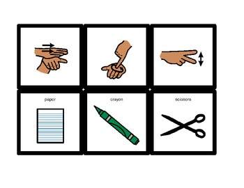 American Sign Language Match Cards:  At School (ESE or Gen. Ed)