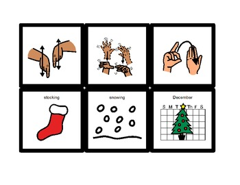 American Sign Language Match Cards:  Christmas (Gen. Ed. or ESE)