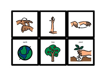 American Sign Language Match Cards:  Earth Day (Gen. Ed. or ESE)