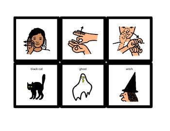 American Sign Language Match Cards:  Halloween (Gen. Ed. or ESE)