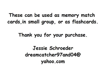 American Sign Language Match Cards:  Months of the Year (Gen. Ed. or ESE)