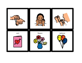American Sign Language Match Cards:  Mother's Day (Gen. Ed. or ESE)