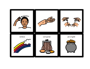 American Sign Language Match Cards:  St. Patrick's Day (Gen. Ed. or ESE)